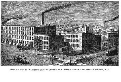 The Vulcan Saw Works ca. 1884