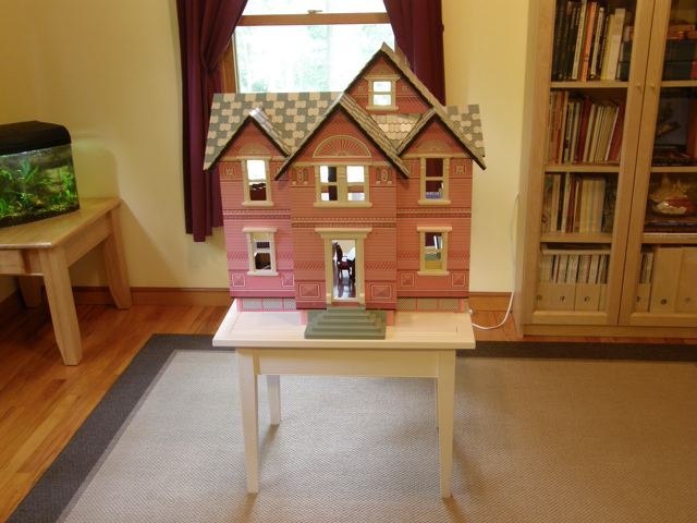 Anna's Low Activity Table for her Dollhouse!